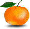 Orange With Leaf Clip Art