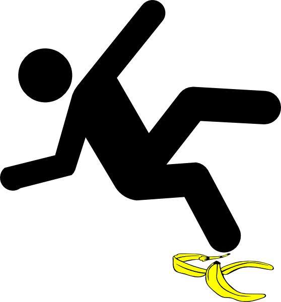 slip and fall clip art free - photo #34