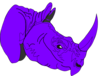 Purple Regents Rhino Clip Art