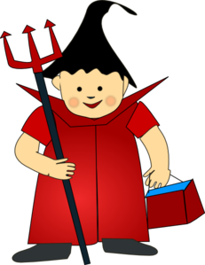 Devil With Fork Clip Art