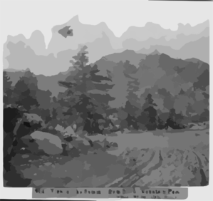 View Of The Summit, From Silver Mountain Pass; Altitude 9,000 Feet, Alpine County Clip Art