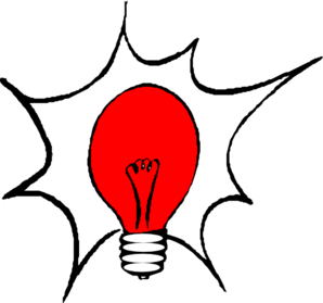 Red Light Bulb Clip Art
