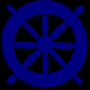 Blue ships wheel clip art at clker com vector clip art online
