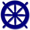 Blue Ships Wheel Clip Art