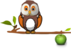 Owl Sitting On A Branch  Clip Art