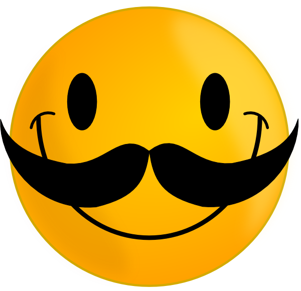 Smiley Face with Mustache