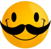 Smile With Mustache Clip Art