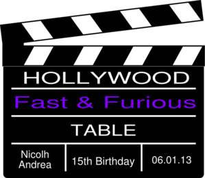 Hollywood Nicolh Party Clip Art