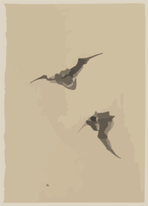 [two Bats Flying] Clip Art
