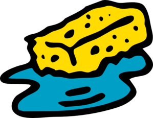 Sponge In Water Clip Art