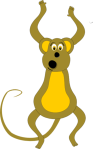 Jumping Monkey Clip Art