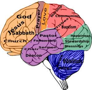 Religion On The Brain Clip Art