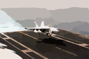 An F/a-18f Super Hornet Assigned To  Strike Fighter Squadron Forty-one (vfa-41) Aboard The Aircraft Carrier Uss Nimitz (cvn 68) Comes In For A Landing On The Flight Deck Of Aircraft Carrier Uss Abraham Lincoln (cvn 72) Clip Art
