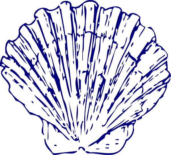 dark blue sea shell clip art at clker com vector clip art online rh clker com Nautilus Shell Clip Art Starfish Shell Clip Art
