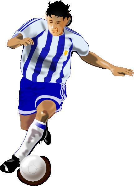 Football player clip art at clker com vector clip art online