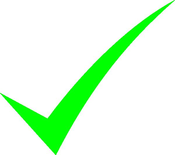 Bright Green Check Mark Clip Art at Clker.com - vector ...