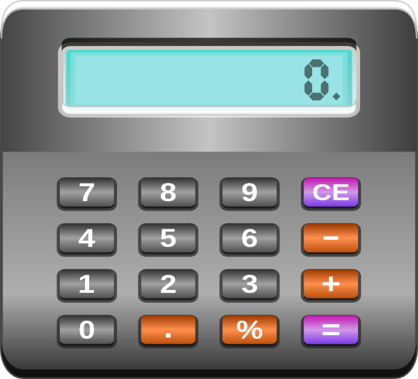 Calculator Clip Art at Clker.com - vector clip art online, royalty ...