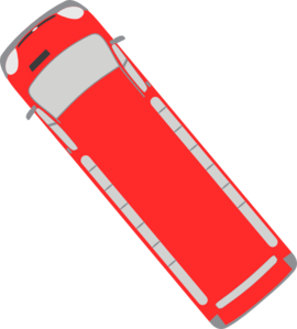 Red Bus - 130 Clip Art