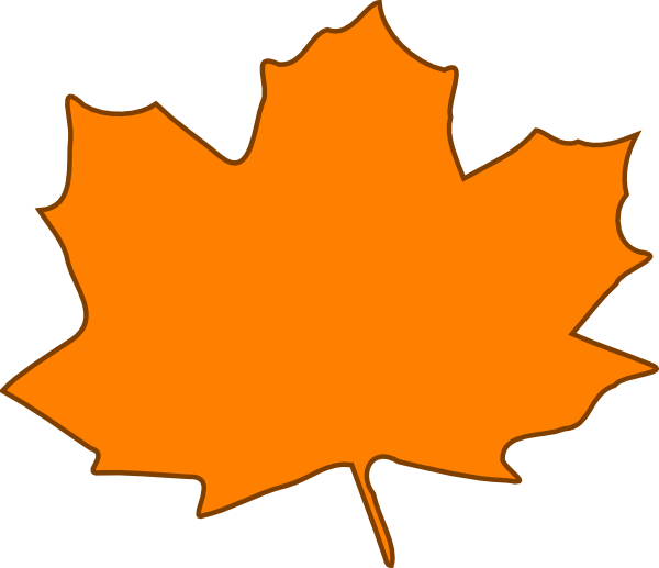 orange leaf clip art - photo #2