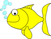 Fish-yellow Clip Art