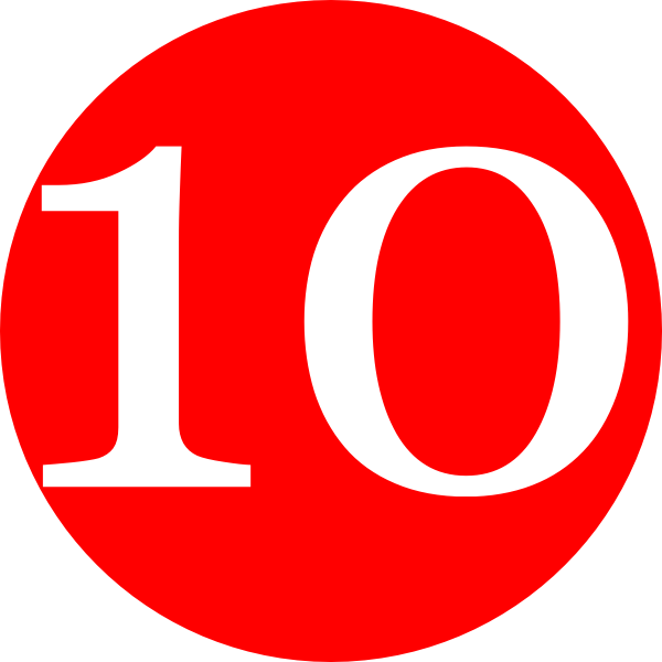 Red, Rounded,with Number 10 Clip Art at Clker.com - vector ...