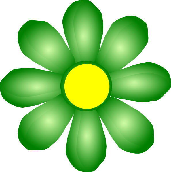 free green flower clipart - photo #13