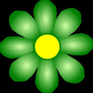 Green Flower Clip Art