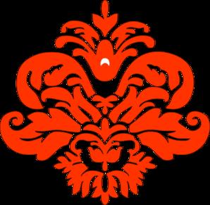 orange damask clip art at clker com vector clip art online rh clker com