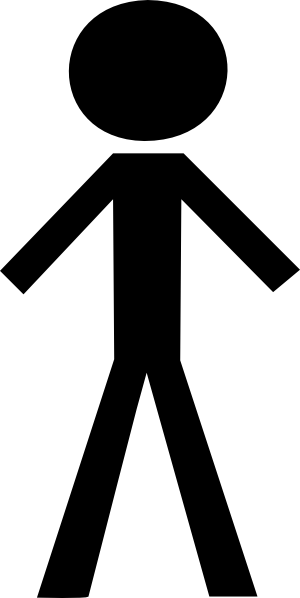 Stick Figure (black) Clip Art at Clker.com - vector clip ...