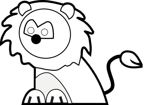 Black and white lion clip art - photo#19