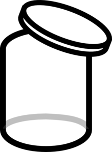 Lid Black And White Clip Art