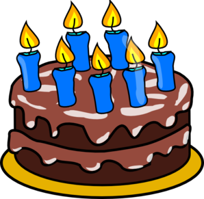 7candle Cake Clip Art