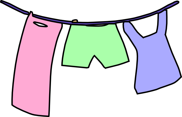 clipart hanging clothes - photo #1