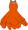 Burnt Orange Dress Clip Art