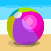 Inflatable Beach Ball Beach Vector Illustration Clip Art
