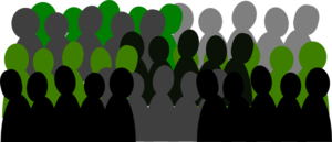 Dark Green And Grey Crowd Clip Art