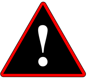 Red Black White Warning 2 Clip Art