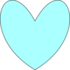 Light Blue Heart Clip Art