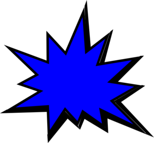 Blue Comic Pow Clip Art At Clker Com Vector Clip Art