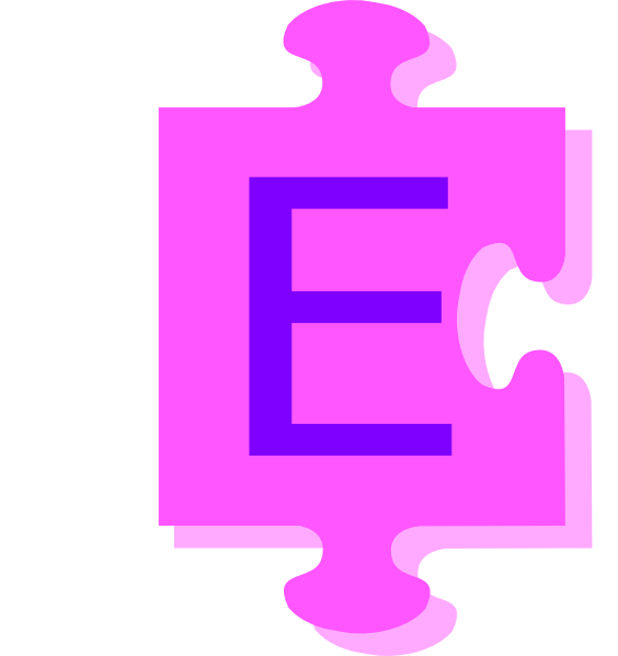 Letter E Inside Puzzle Piece Clip Art at Clker.com ...