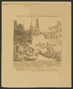 The Bloody Massacre Perpetrated In King Street Boston On March 5th 1770 By A Party Of The 29th Regt.  / Engrav D, Printed & Sold By Paul Revere, Boston. Clip Art