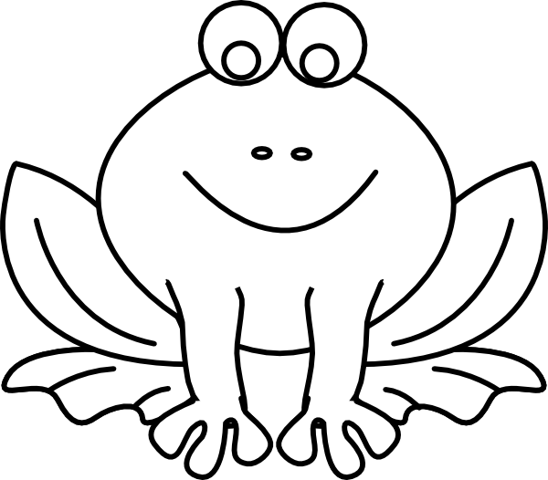 Black and white cartoon frogs - photo#17
