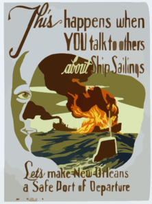 This Happens When You Talk To Others About Ship Sailings Let S Make New Orleans A Safe Port Of Departure / John Mccrady. Clip Art