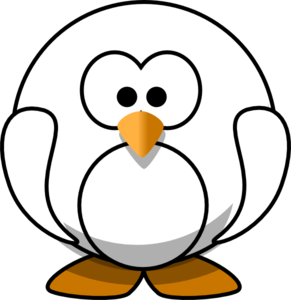 Black And White Penguin Clip Art