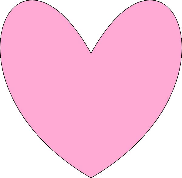 Heart Outline- Pink clip artPink Heart Outline Png