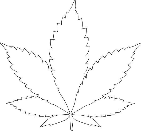 leaf 2 clip art at clkercom vector clip art online With weed leaf template