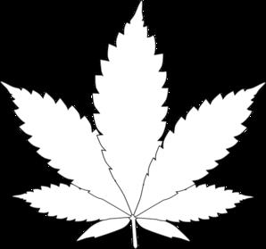 Leaf 2 clip art at vector clip art online for Weed leaf template