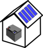 House Solar Battery Clip Art