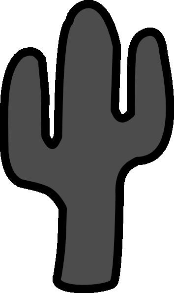 Gray Cactus Clip Art at Clker.com - vector clip art online ...