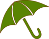 Green Umbrella Clip Art